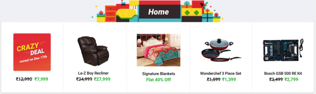 Discounts and Offers on Flipkart mahasale Home OFfers